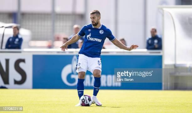 Matija Nastasic of Schalke runs with the ball during the preseason friendly match between FC Schalke 04 and VfL Bochum at Parkstadion on September 05...