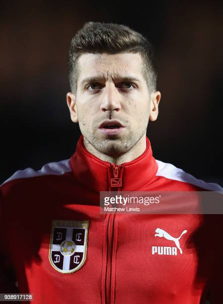 Matija Nastasic of Serbia pictured ahead of the International Friendly match between Nigeria and Serbia at The Hive on March 27 2018 in Barnet England