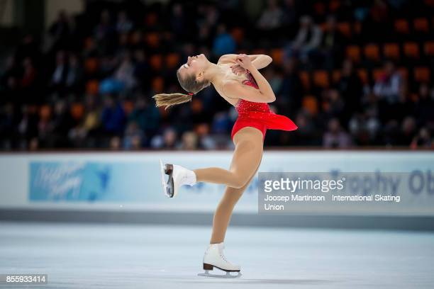 Matilda Algotsson of Sweden competes in the Ladies Free Skating during the Nebelhorn Trophy 2017 at Eissportzentrum on September 30 2017 in...