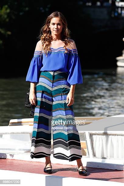 Matilda Anna Ingrid Lutz arrives at Lido during the 73rd Venice Film Festival on August 31 2016 in Venice Italy