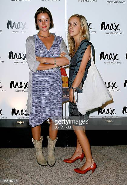 Matilda Brown and Fiona Trick arrive at the Max Sessions: Ben Harper and Relentless 7 concert at the Sydney Opera House on November 23, 2009 in...