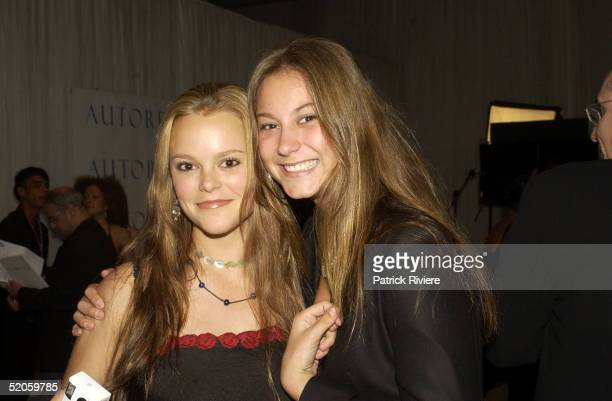 Matilda Brown and sister at the 2003 LEXUS IF Awards at Sydney's Wharf 8 in Sydney, Australia.