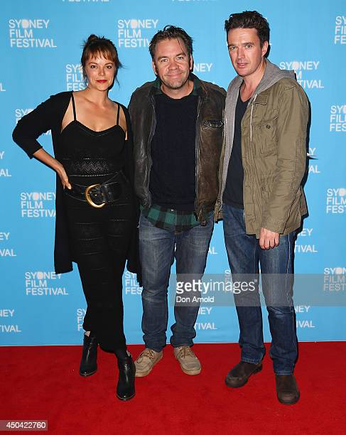 """Matilda Brown, Brendan Cowell and Matt Day pose at the Australian premiere of the """"The Last Impresario"""" during the Sydney Film Festival on June 11,..."""