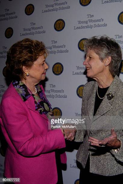 Matilda Cuomo and Gladys Thomas attend Young Women's Leadership Foundation Power Breakfast at Pierre Hotel on September 27 2006 in New York City