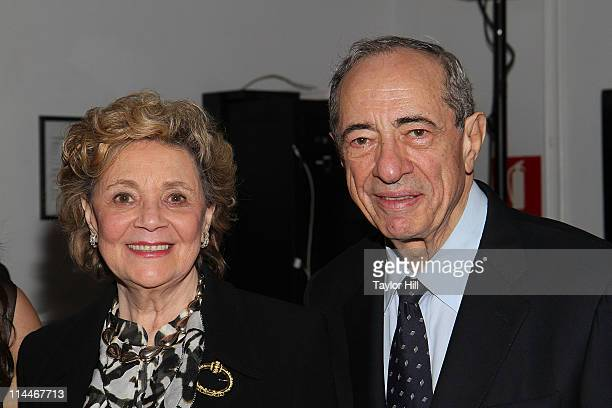 Matilda Cuomo and Governor Mario Cuomo attend the 2nd Annual Gala4Good cocktail party and benefit auction at Industria Superstudio on May 19 2011 in...