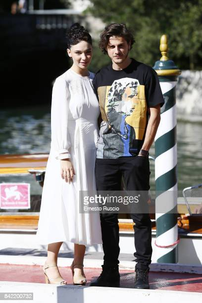 Matilda De Angelis and Andrea Arcangeli are seen during the 74th Venice Film Festival at Excelsior Darsena on September 3 2017 in Venice Italy