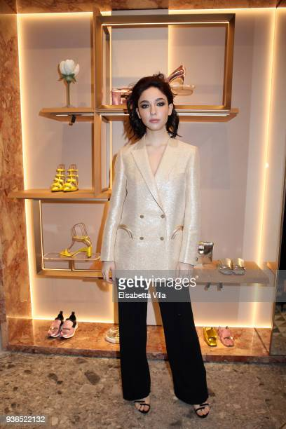 Matilda De Angelis attends Sergio Rossi New Store Opening in Rome on March 20 2018 in Rome Italy