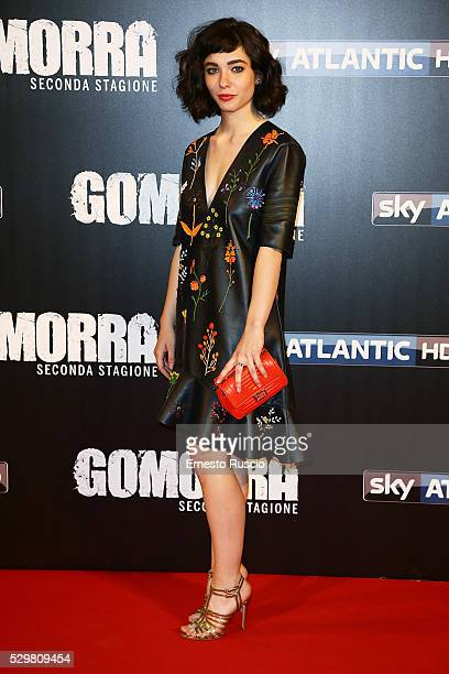 Matilda De Angelis attends the 'Gomorra' Tv Show premiere at Teatro Dell'Opera on May 09, 2016 in Rome.
