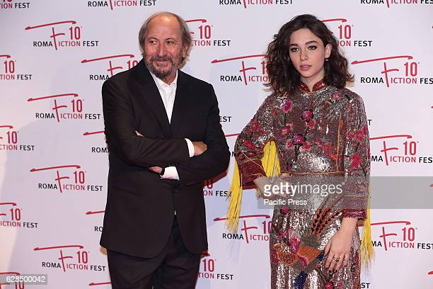 Matilda De Angelis godmother of RFF 2016 and Giuseppe Piccioni artistic director of the RFF 2016 during Red Carpet of Opening Ceremony of Roma...