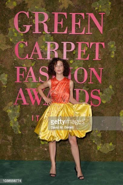 Matilda De Angelis, wearing Prada, attends The Green Carpet Fashion Awards Italia 2018 at Teatro Alla Scala on September 23, 2018 in Milan, Italy.