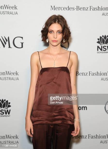 Matilda Dodds attends the Mercedes Benz Fashion Week Australia Resort 20 Collections Schedule Launch on March 25, 2019 in Sydney, Australia.