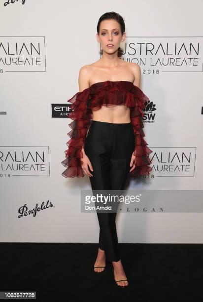 Matilda Dodds poses at the 2018 Australian Fashion Laureate Awards on November 20 2018 in Sydney Australia