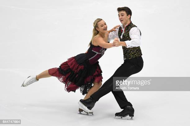 Matilda Friend and William Badaoui of Australia compete in the figure skating ice dance free dance on the day seven of the 2017 Sapporo Asian Winter...