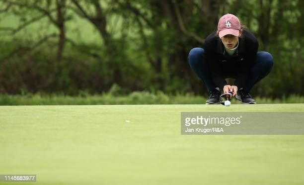 Matilda Innocenti Angelini of Italy in action during the final round of the R&A Girls U16 Amateur Championship at Fulford Golf Club on April 28, 2019...