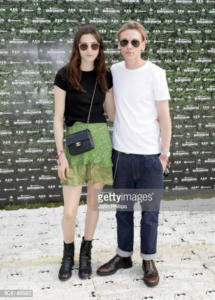 Matilda Lowther and Jamie Campbell Bower attend the Barclaycard Presents British Summer Time Festival in Hyde Park on July 6, 2017 in London, United...