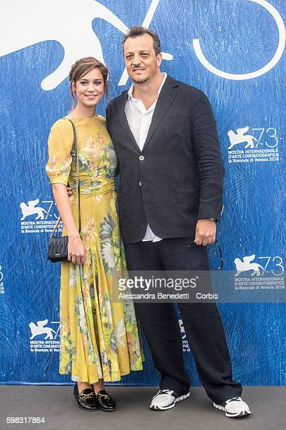 Matilda Lutz and Gabriele Mucking attend a photocall for 'L'Estate Addosso Summertime' during the 73rd Venice Film Festival at on September 1 2016 in...
