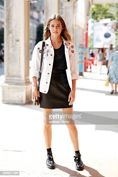 Matilda Lutz arrives at Lido during the 73rd Venice Film Festival on September 2 2016 in Venice Italy