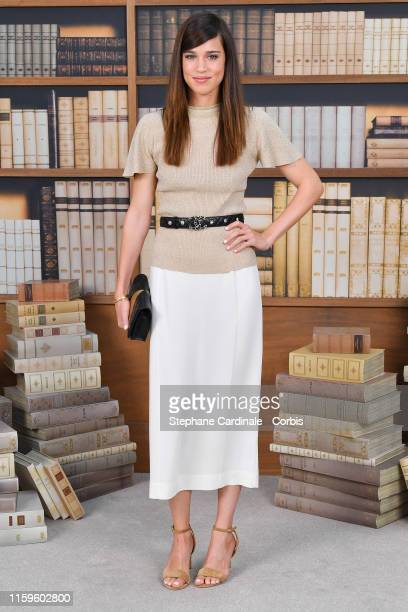 Matilda Lutz attends the Chanel photocall as part of Paris Fashion Week Haute Couture Fall Winter 2020 at Grand Palais on July 02 2019 in Paris France