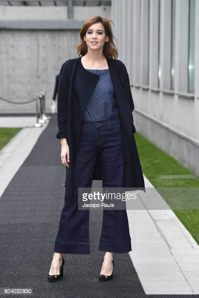 Matilda Lutz attends the Emporio Armani show during Milan Fashion Week Fall/Winter 2018/19 on February 25 2018 in Milan Italy