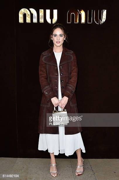 Matilda Lutz attends the Miu Miu show as part of the Paris Fashion Week Womenswear Fall / Winter 2016 on March 9 2016 in Paris France