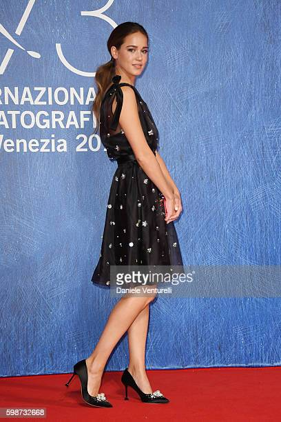 Matilda Lutz attends the premiere of 'Franca Chaos And Creation' during the 73rd Venice Film Festival at Sala Giardino on September 2 2016 in Venice...
