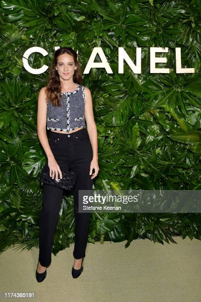Matilda Lutzwearing CHANEL attends Chanel Dinner Celebrating Gabrielle Chanel Essence With Margot Robbie on September 12 2019 in Los Angeles...