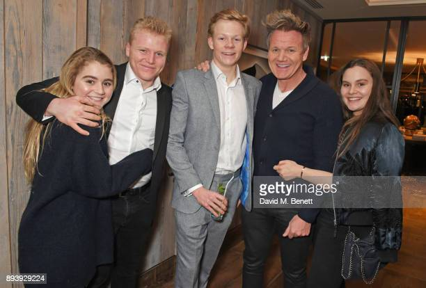 Matilda Ramsay Jack Ramsay Alexander Dundas Gordon Ramsay and Holly Ramsay attend Alexander Dundas's 18th birthday party hosted by Lord and Lady...