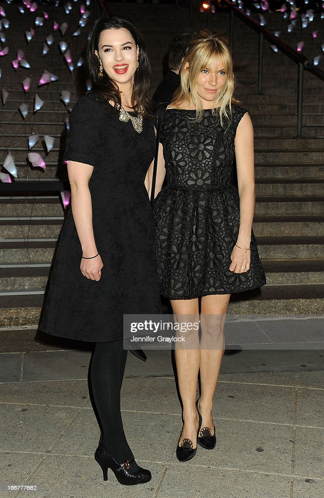 Matilda Sturridge and Actress Sienna Miller attends the Vanity Fair Party 2013 Tribeca Film Festival Opening Night Party held at the New York State Supreme Courthouse on April 16, 2013 in New York City.