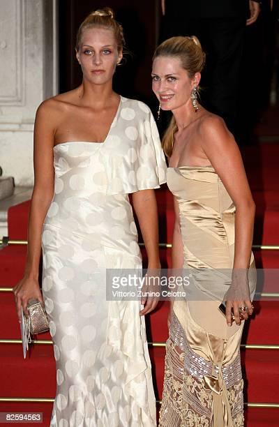 Matilde and Isabella Borromeo attend the premiere of the movie Valentino The Last Emperor held at Teatro La Fenice during the 65th Venice Film...