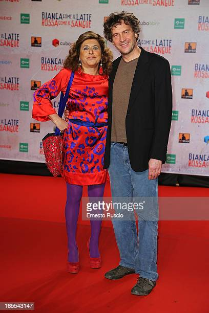 Matilde Bernabei and Giacomo Campiotti attend the Bianca Come Il Latte Rossa Come Il Sangue premiere at Space Moderno on April 4 2013 in Rome Italy