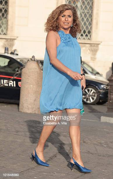 Matilde Bernabei arrives at the Quirinale Palace to attend a Gala Dinner hosted by Italy's President Giorgio Napolitano on June 1 2010 in Rome Italy