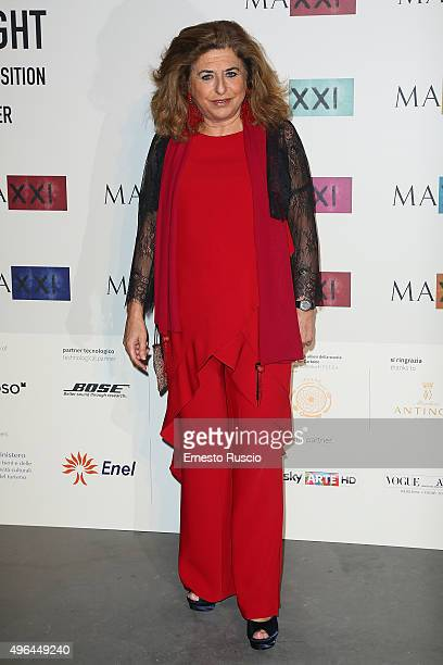 Matilde Bernabei attends MAXXI Acquisition Gala Dinner at Maxxi Museum on November 9 2015 in Rome Italy