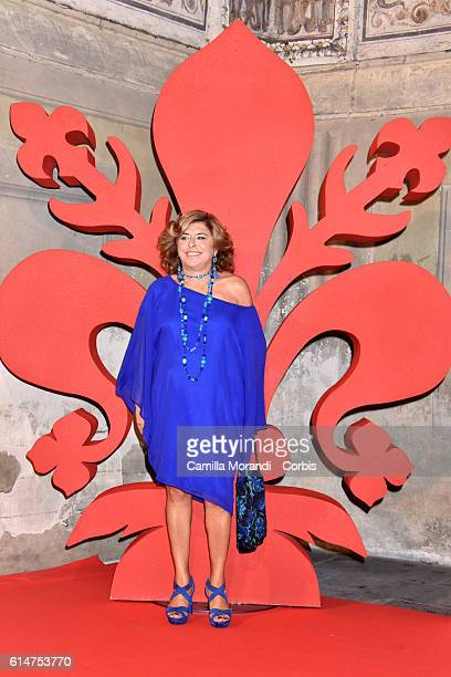 Matilde Bernabei walks a red carpet for 'I Medici' on October 14 2016 in Florence Italy