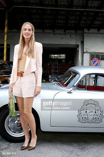 Matilde Borromeo attends Christian Louboutin Men's Cocktail Event during Milan Men's Fashion Week SS17 on June 20 2016 in Milan Italy