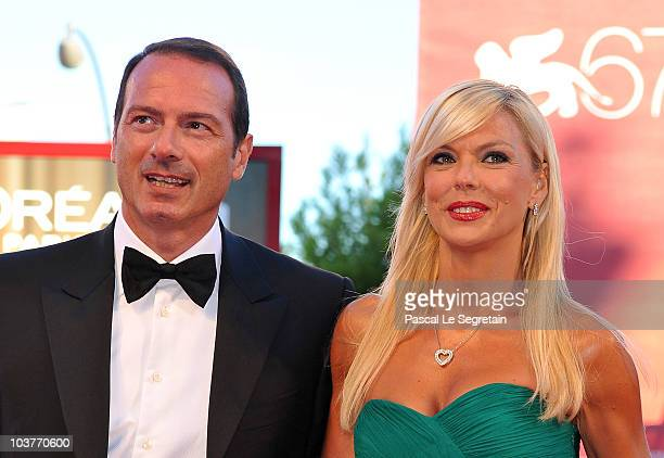Matilde Brandi and her husband attends the Opening Ceremony and Black Swan premiere during the 67th Venice Film Festival at the Sala Grande Palazzo...