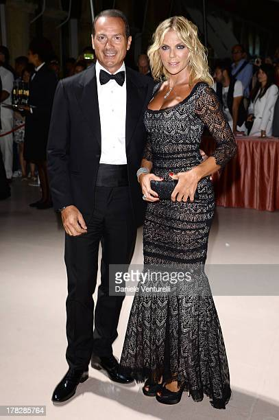 Matilde Brandi and Marco Costantini attend the Opening Ceremony during The 70th Venice International Film Festival on August 28 2013 in Venice Italy