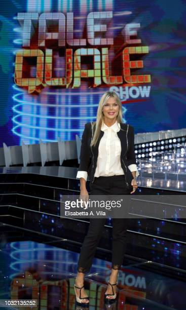 Matilde Brandi attends Tale e Quale Show photocall at Rai Dear Studios on September 12 2018 in Rome Italy