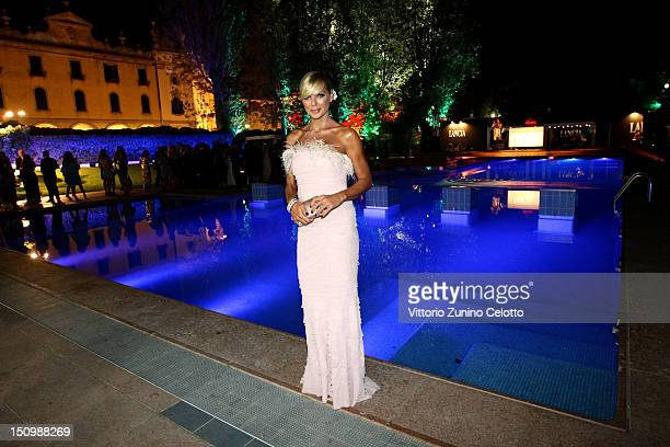 Matilde Brandi attends the 69th Venice Film Festival Opening AfterDinner Party at Lancia Cafe on August 29 2012 in Venice Italy