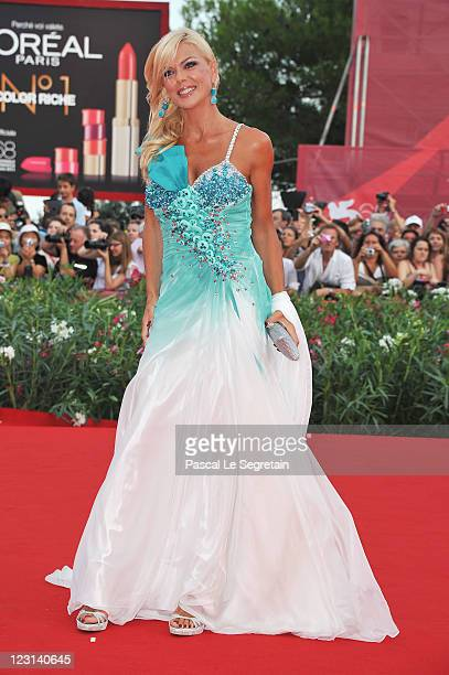 Matilde Brandi attends The Ides Of March premiere during the 68th Venice Film Festival at the Palazzo del Cinema on August 31 2011 in Venice Italy