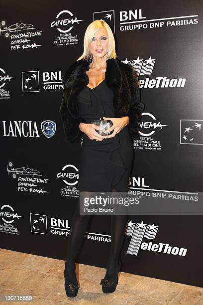 Matilde Brandi attends the Telethon Gala 2011 during the 6th International Rome Film Festival on October 28 2011 in Rome Italy
