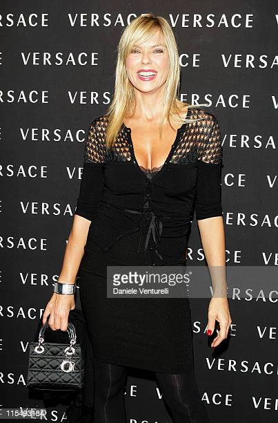 Matilde Brandi attends the Versace Flagship Boutique opening in Via Veneto on October 29 2008 in Rome Italy