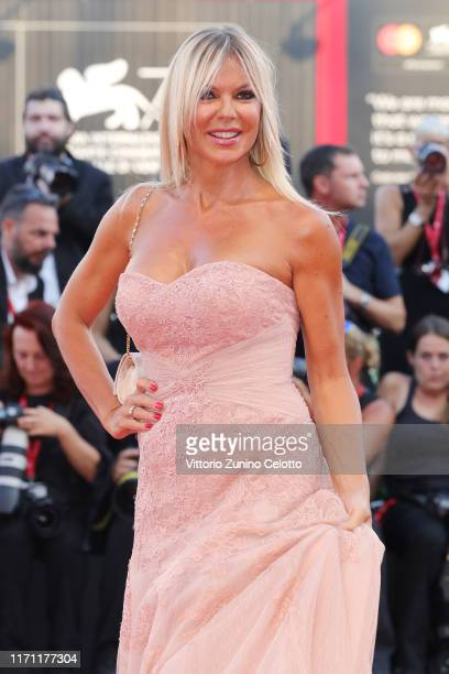 Matilde Brandi walks the red carpet ahead of the J'Accuse screening during the 76th Venice Film Festival at Sala Grande on August 30 2019 in Venice...