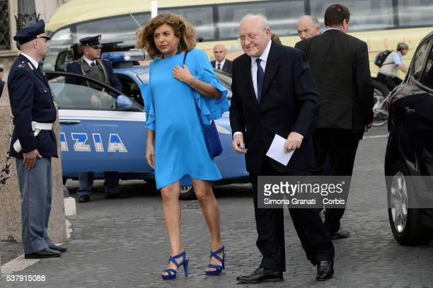 Matilde ed Ettore Bernabei Traditional reception at the Quirinale for the anniversary of the Italian Republic with people from the world of politics...