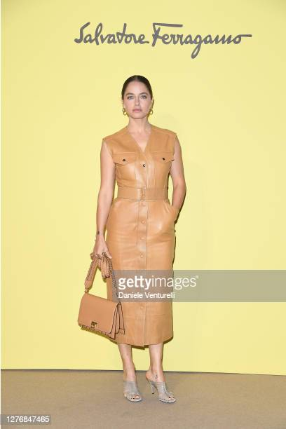Matilde Gioli attend the Salvatore Ferragamo show during during Milan Fashion Week Spring/Summer 2021 on September 26, 2020 in Milan, Italy.