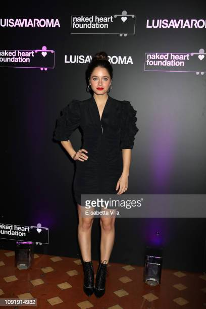Matilde Gioli attends LuisaViaRoma and Naked Heart Foundation Dinner on January 09 2019 in Florence Italy