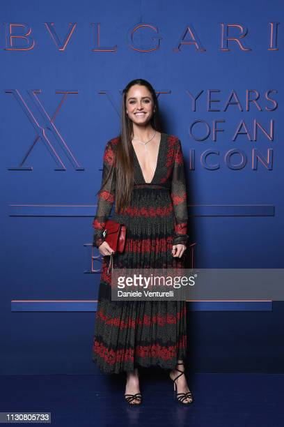 Matilde Gioli attends the Bvlgari BZERO1 XX Anniversary Global Launch Event at Auditorium Parco Della Musica on February 19 2019 in Rome Italy