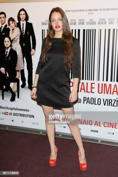 Matilde Gioli attends the 'Il Capitale Umano' Premiere at The Space Moderno on January 8, 2014 in Rome, Italy.