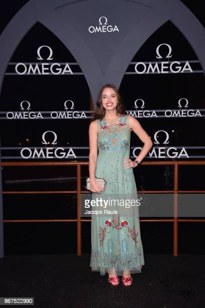 Matilde Gioli attends the OMEGA Aqua Terra at Palazzo Pisani Moretta on October 28 2017 in Venice Italy