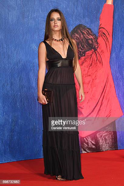 Matilde Gioli attends the premiere of 'Franca Chaos And Creation' during the 73rd Venice Film Festival at Sala Giardino on September 2 2016 in Venice...