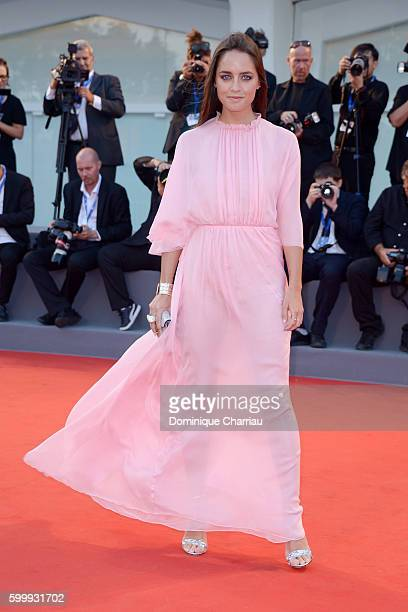 Matilde Gioli attends the premiere of 'Jackie' during the 73rd Venice Film Festival at Sala Grande on September 7 2016 in Venice Italy